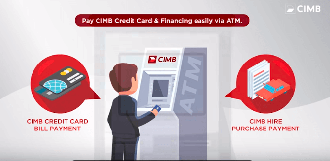 Make payment for your CIMB Credit Card & Financing via fund transfer at CIMB ATM