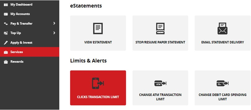 Where Can I Change My Transaction Limit