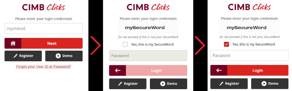 Secureword Internet Banking Security Cimb